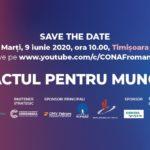 """Comunicat de Presă – Conferințele """"Pactul pentru Muncă – Împreună Reconstruim România"""""""
