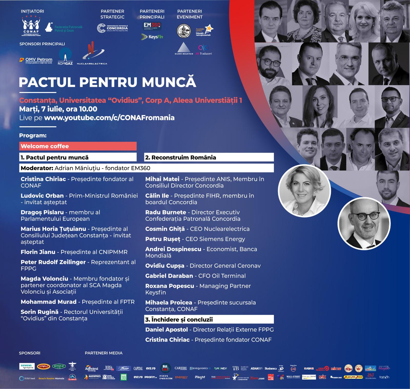 PACTUL PENTRU MUNCĂ. Investiția în educație: prioritate pentru România!